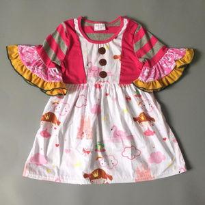 Other - Boutique Princess Castle Short Sleeve Ruffle Dress